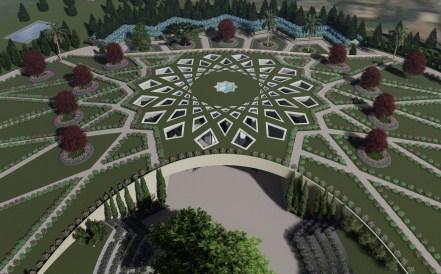 Design du futur tombeau de 'Abdu'l-Baha