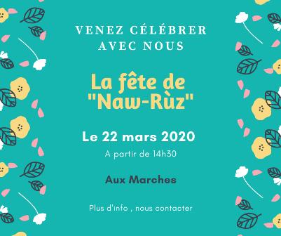 Fête de Naw-Rùz – 22 mars 2020