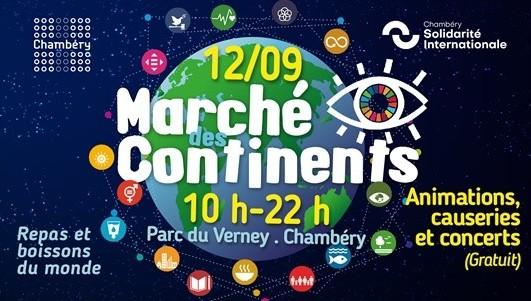 Affiche marché des continents 2020