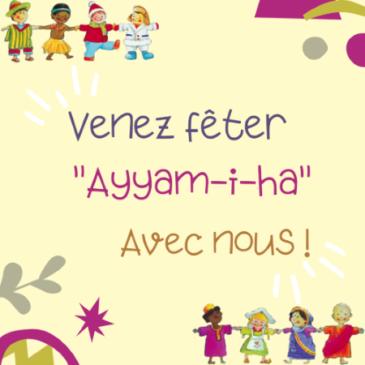 Fête de Ayyam-i-Ha – 27/02